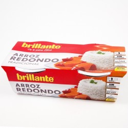 ARROZ BRILLANTE REDONDO TRADICIONAL 2 VASITOS