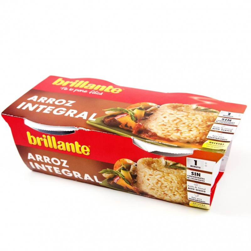 ARROZ BRILLANTE INTEGRAL 2 VASITOS