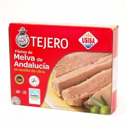FILETES DE MELVA DE ANDALUCIA ACEITE OLIVA(TEJERO) 980 gr