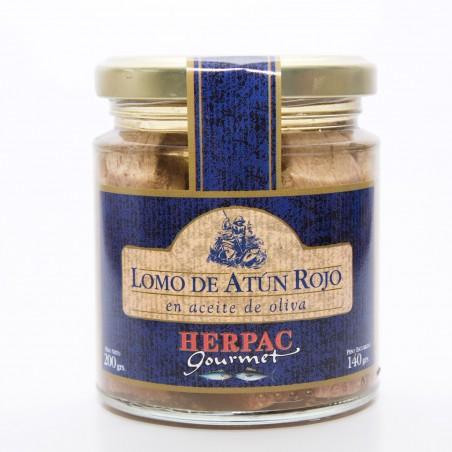LOMO DE ATUN ROJO EN ACEITE DE OLIVA. HERPAC