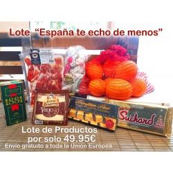 """LOTE PRODUCTOS """"ESPAÑA TE ECHO DE MENOS"""""""