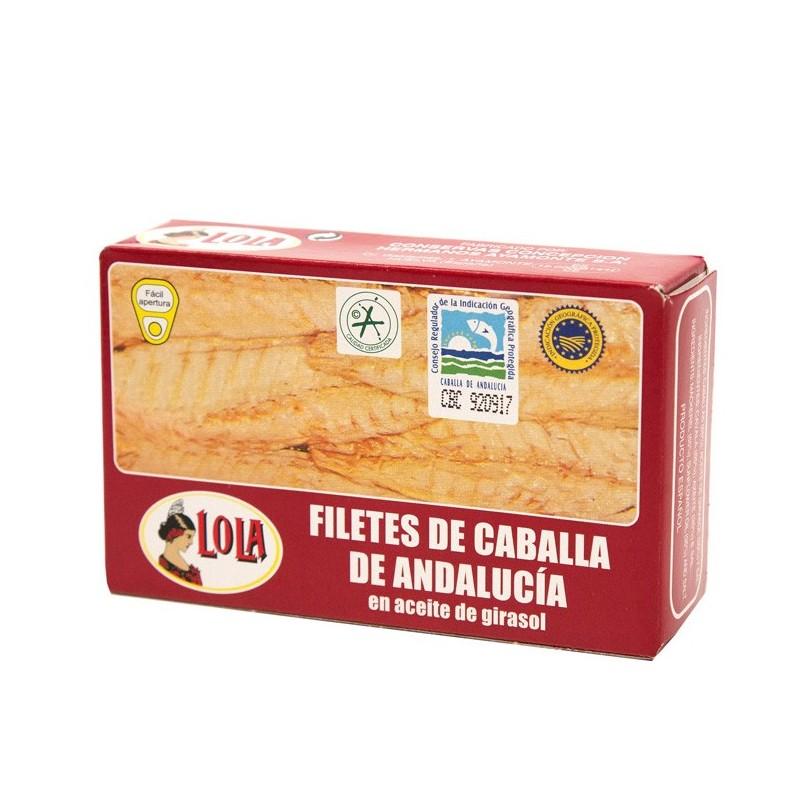 FILETES DE CABALLA DE ANDALUCIA ACEITE GIRASOL(LOLA) 125 gr