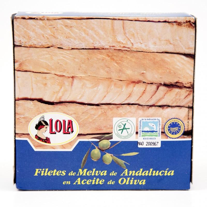 FILETES DE MELVA DE ANDALUCIA ACEITE OLIVA(LOLA) 260 gr
